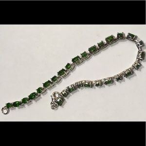 Jewelry - New Sterling Chrome Diopside Bracelet